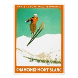 Green Rides love all the vintage french ski posters
