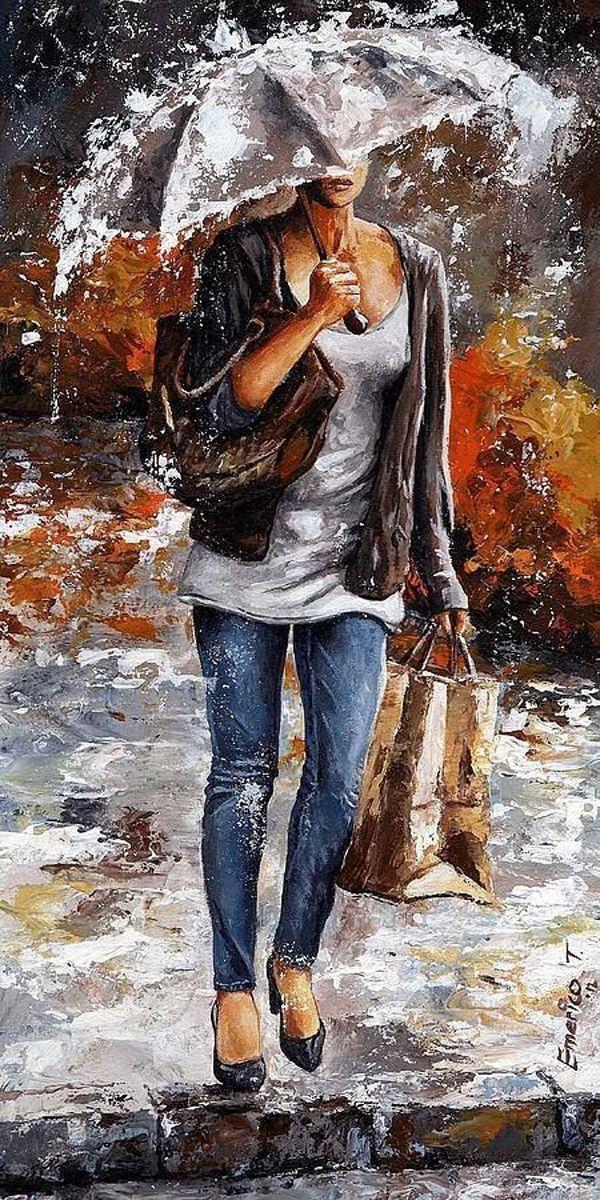 Осенняя погода не повод для того, чтобы отказать себе в прогулке. Работы современного живописца из Будапешта...