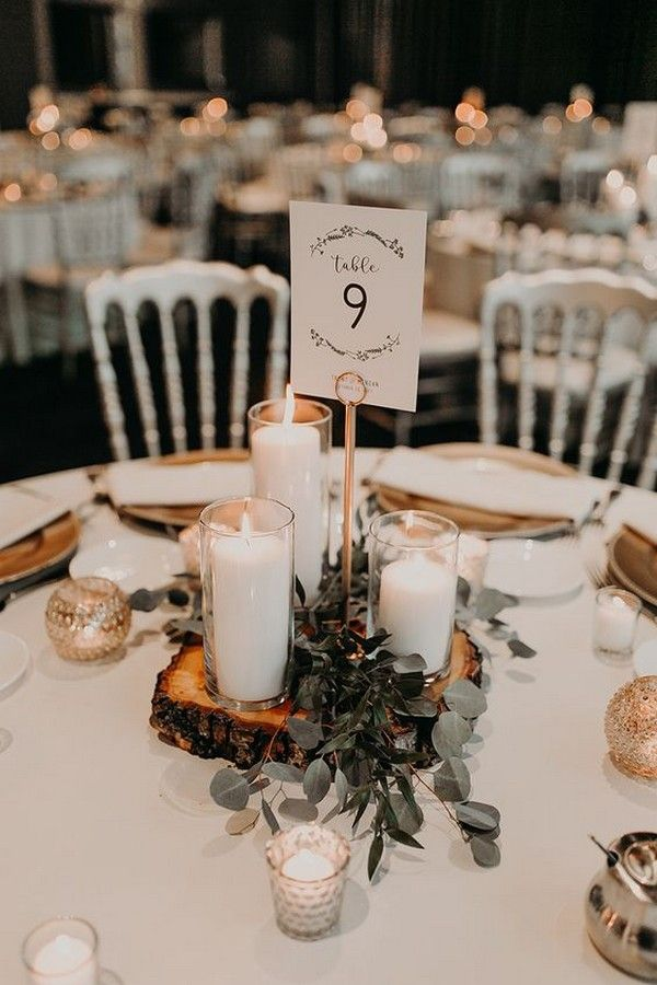 25 Budget Friendly Simple Wedding Centerpiece Ideas With Candles Emmalovesweddings Simple Wedding Centerpieces Fall Wedding Centerpieces Rustic Wedding Centerpieces