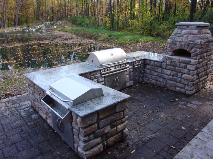 stone age manufacturing vecchio pizza oven and u shaped island stone age manufacturing. Black Bedroom Furniture Sets. Home Design Ideas