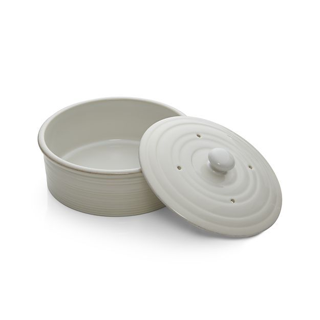 Farmhouse White Pancake Warmer in Specialty Serveware | Crate and Barrel
