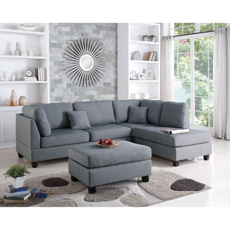 Create comfortable and contemporary seating in your living room with this Lucas Chaise Sectional. Relax with the family for movie night or invite friends over to watch the big game on this Lucas Chaise Sectional from A&J Homes Studio.