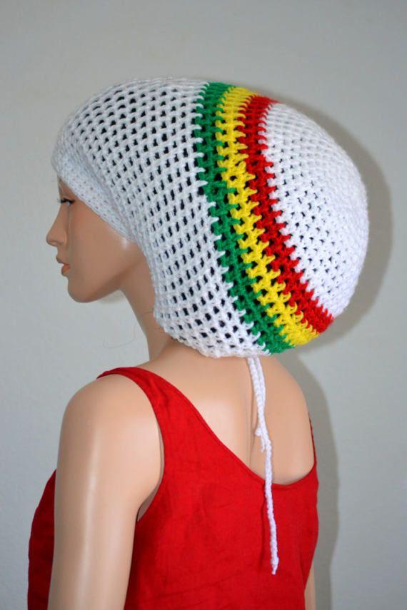 White Rasta Tam/ Crochet Dreadlocks Tam/ Unisex Dread Tam/