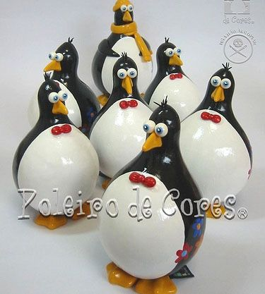 pinguins de cabaça