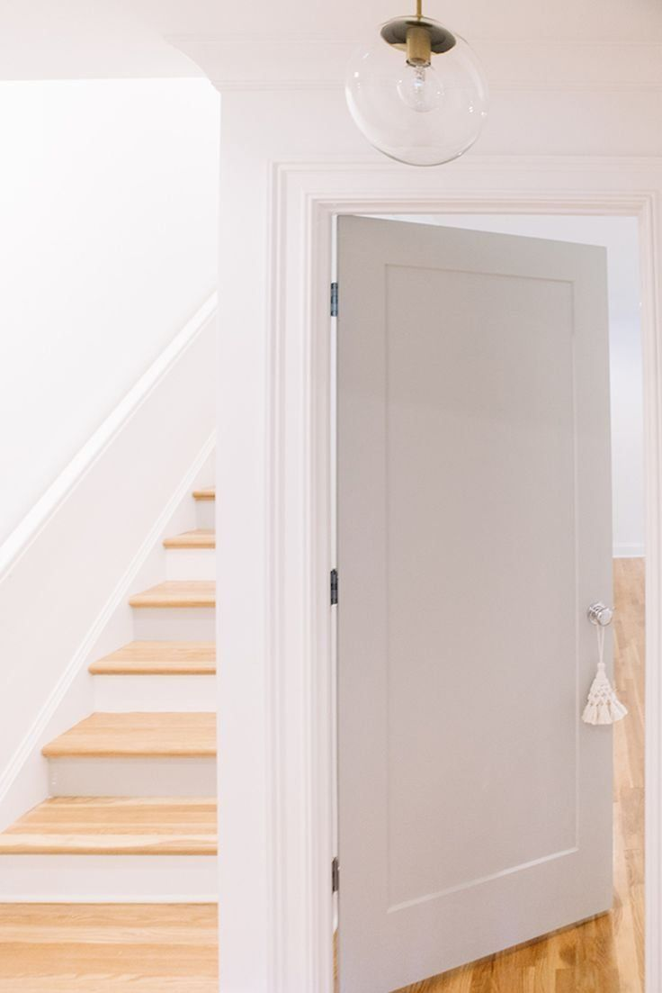 Bright And Happy Nashville Home Tour 1000 In 2020 Grey Interior Doors Interior Door Colors Interior Door Styles