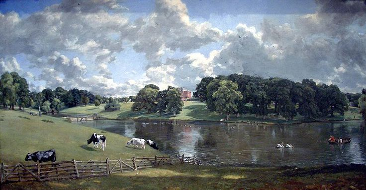 A John Constable painting of Wivenhoe Park, which later became the grounds for the University of Essex