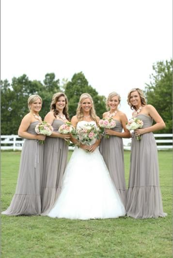 BHLDN French Grey Bridesmaid Dresses | Might be pretty for an elegant winter wedding!