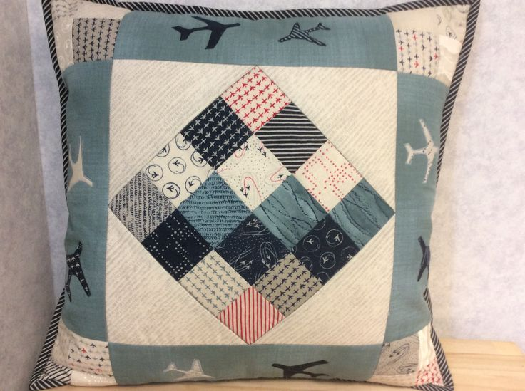 Here's some inspiration for your next sewing project! How about a lovely 'Flight' cushion using these fabrics from Moda?
