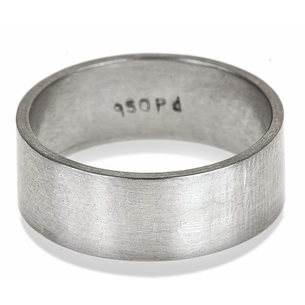 A stunning, handmade palladium wedding band to adorn your finger. Created with my own two hands in solid, recycled palladium I give this wedding ring a soft, satin finish which makes it glow.  Palladium is part of the Platinum Group in the periodic table, along with platinum, osmium, rhodium, ruthenium and iridium. Palladium is not quite as hard as platinum, has the color of platinum but is lighter in weight, similar to the weight of sterling silver. Perfect for guys or gals who aren't us...