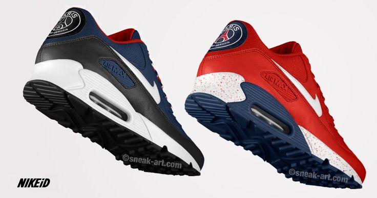 Basket PSG - Nike Air Max 90 X Paris Saint-Germain | Nike air max ...