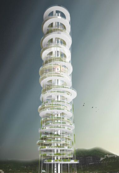 Dynamic Vertical Networks, JAPA Architects - With agricultural land being snapped up for urban developments, is high-rise vertical farming becoming a viable option for China?
