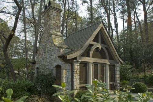 A lady Cave! Tiny screened house. 500 square feet with a fireplace. Perfect creative space! Just enough ... Not too much for me ...