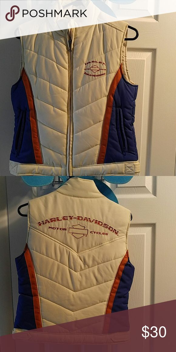 Harley Davidson vest Quilted vest, two pockets inside, two pockets out. Great shape Harley-Davidson Jackets & Coats Puffers