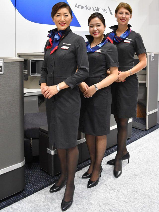 アメリカン航空、客室乗務員の新制服披露 ツーリズムEXPO、新ビジネス ...