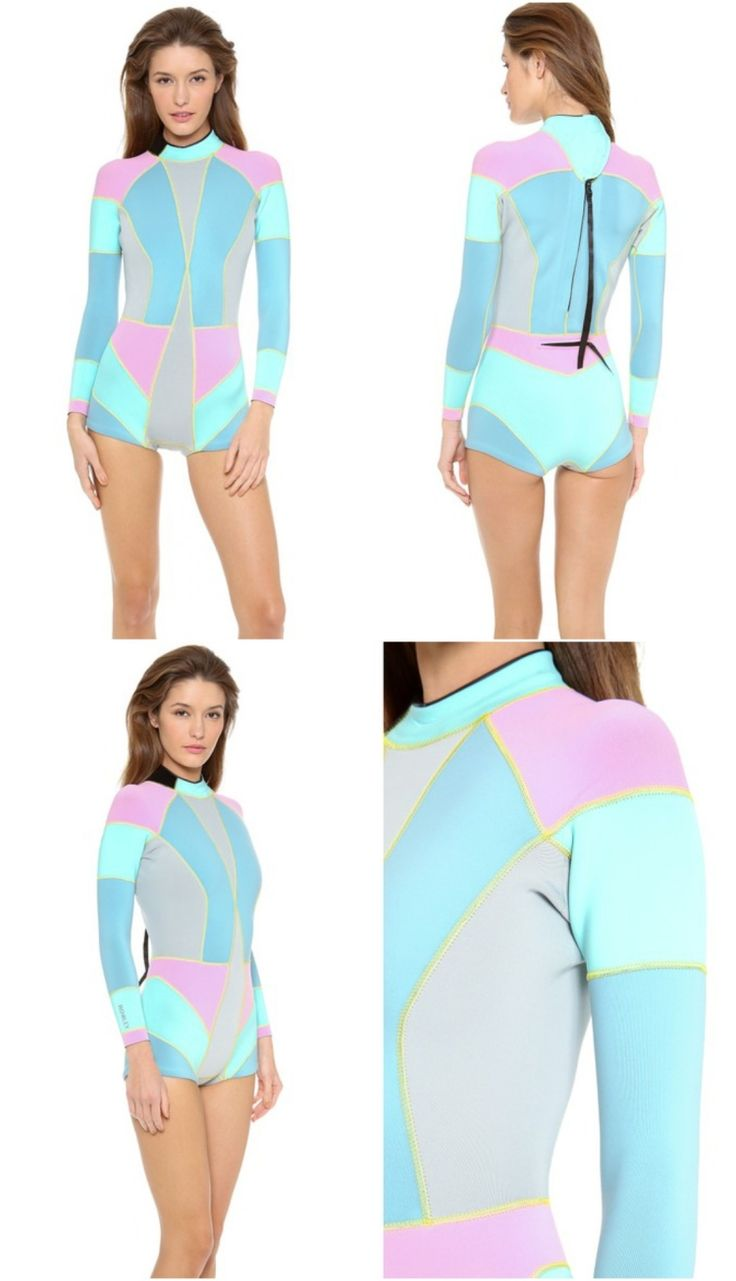 Shorty Neoprenanzug für Damen in strahlenden Sommerfarben von Cynthia Rowley