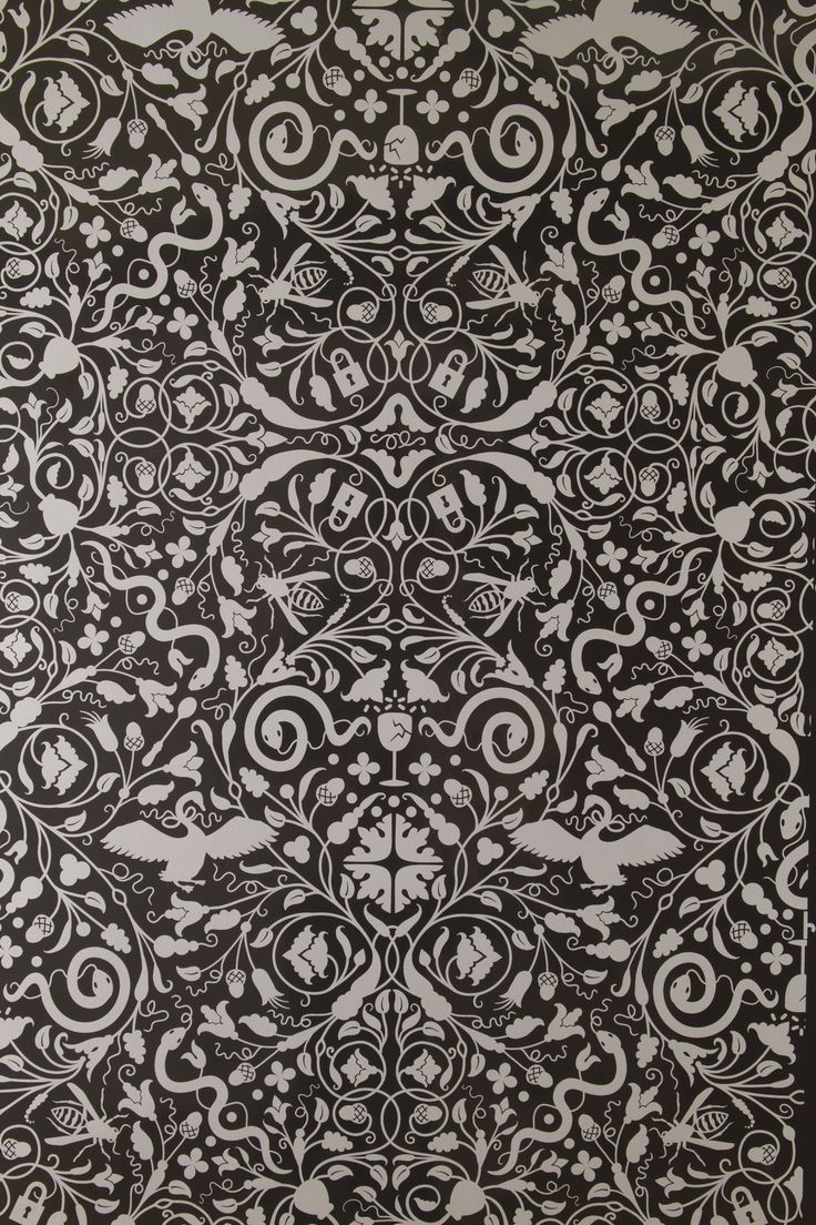 Flavor Paper: Secret Garden (Graphite)Gardens Pattern, Powder Room, Decor Ideas, Secret Gardens, Flavored Paper, House Wallpapers, Wallpapers Ideas, Graphite Gardens, Gardens Wallpapers