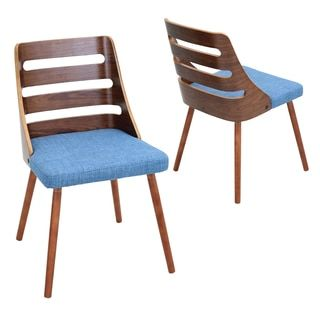 Trevi Mid Century Modern Walnut Wood Accent Chair | Overstock.com Shopping - The Best Deals on Dining Chairs