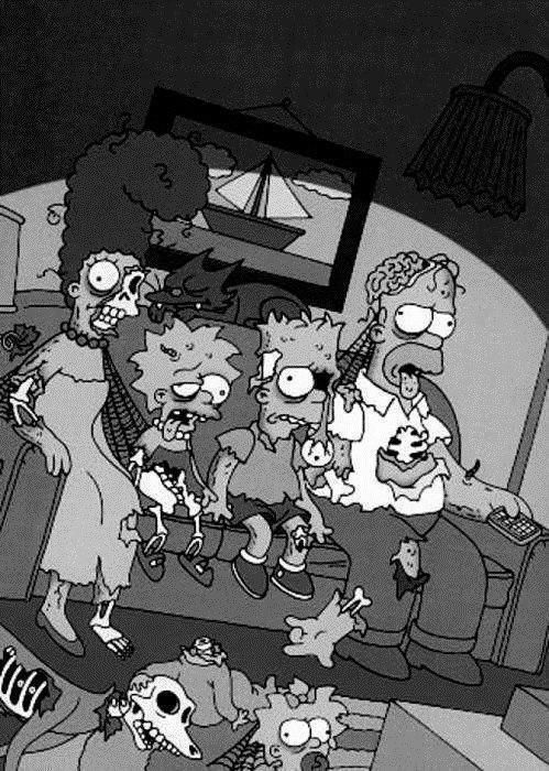 Zombie Simpsons couch gag