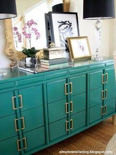Ikea Hack - Emerald Green Bedside Table Upgrade by Katie@myDIYhabits
