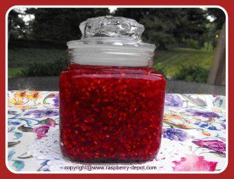Recipe for making RASPBERRY FREEZER JAM using red and /or black raspberries!
