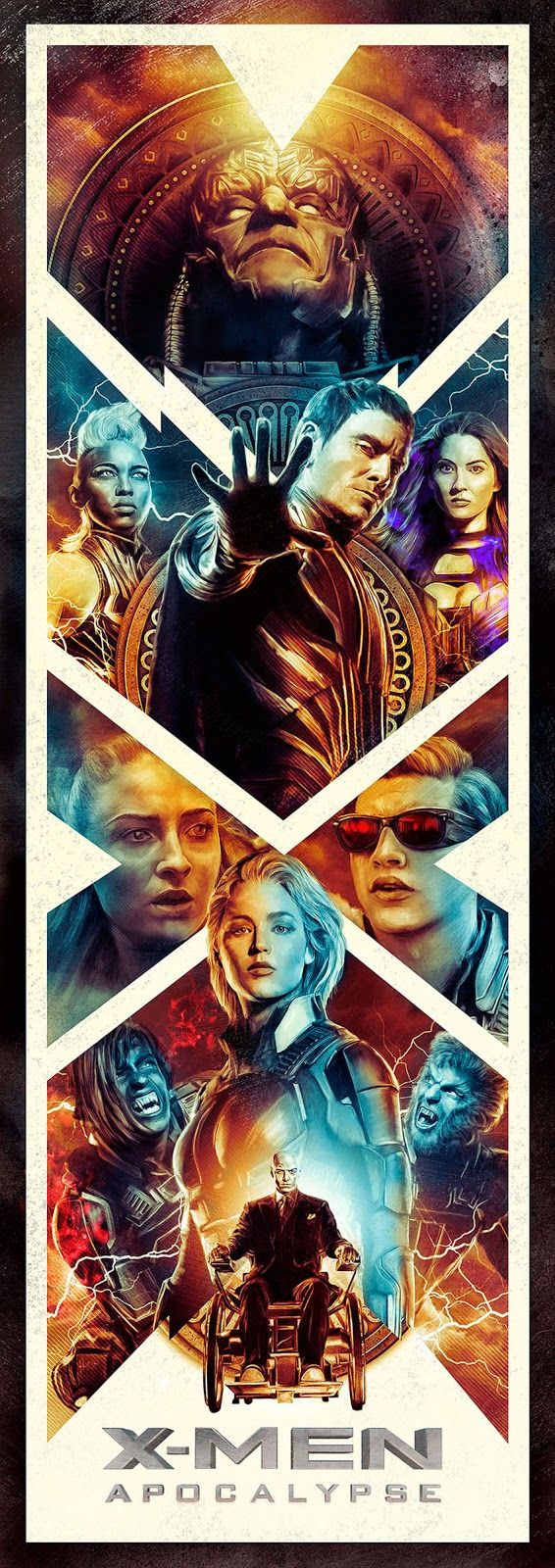 Wallpaper iphone 6 xman - X Men Apocalypse By Richard Davies Home Of The Alternative Movie Poster Amp