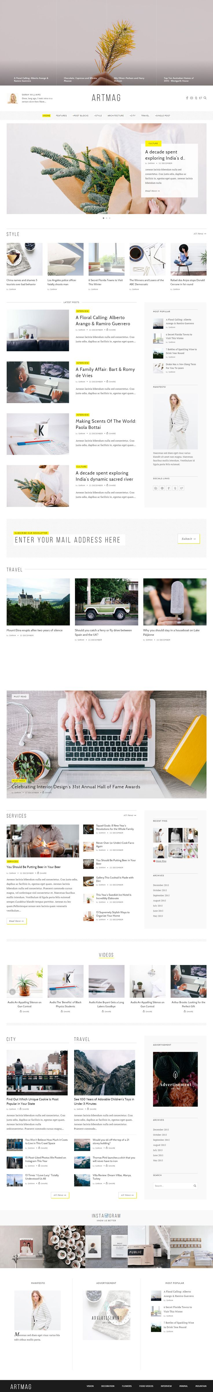 Artmag is Premium full Responsive Retina #WordPress #Magazine Theme. Visual Composer. Bootstrap 3 Framework. #MinimalDesign. Test free demo at: http://www.responsivemiracle.com/artmag-premium-responsive-wordpress-magazine-theme/