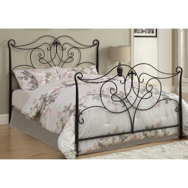 monarch specialties inc queenfull metal headboard u0026 reviews wayfair