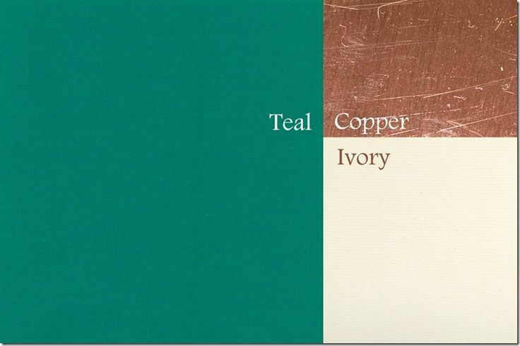 teal kitchen color schemes: copper and teal color scheme