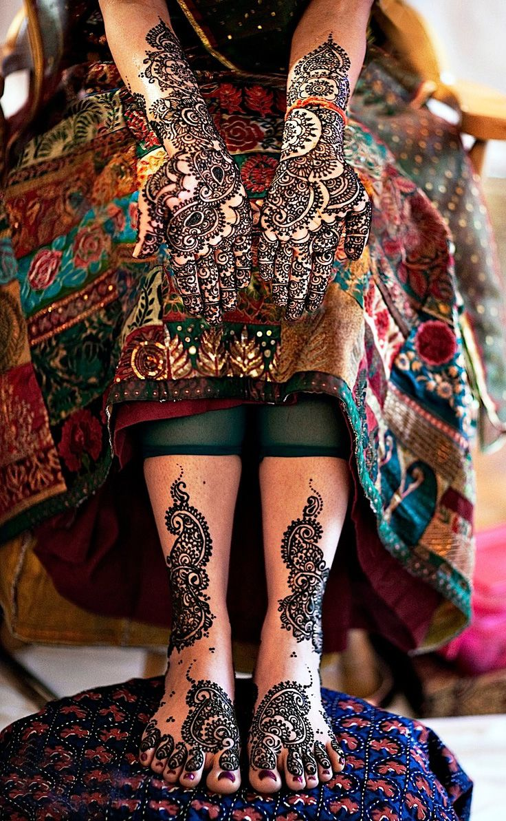 Henna Tattoo For Indian Wedding: #Henna #Bridal #Mehndi #Designs #FullHand #Mehendi #Tattoo