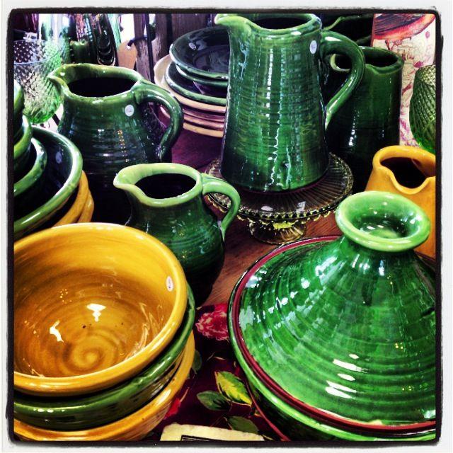 Tony Sly rustic pottery at Zinnia