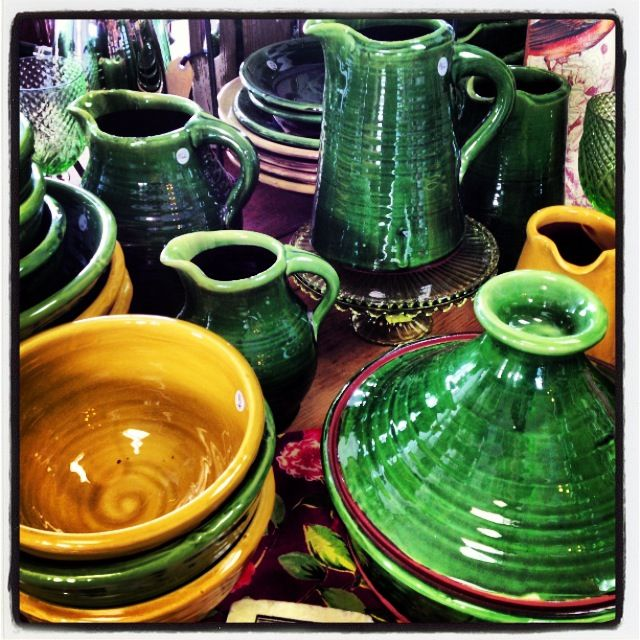 Tony Sly rustic pottery at Zinnia