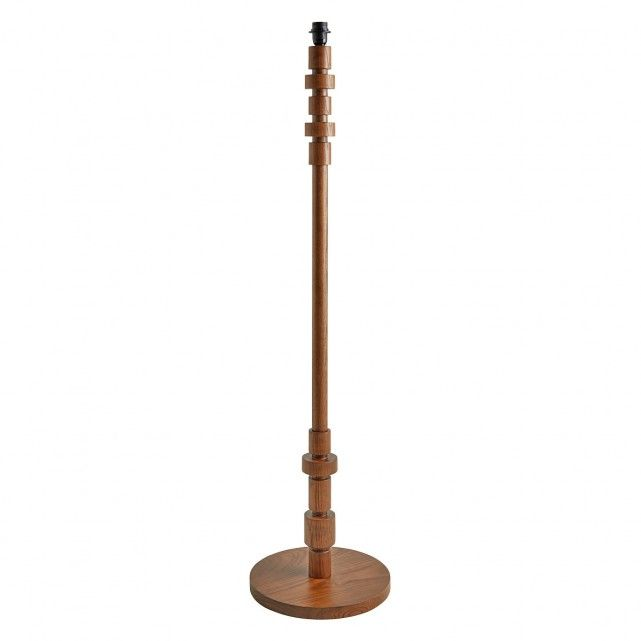 The Maldon Walnut Stained Ash Wood Floor Lamp Base Updates Classic Turned Wood Designs With A Stacked Shape That Floor Lamp Base Ash Wood Floor Wood Floor Lamp