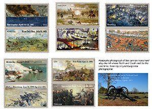 150th Anniversary of the Civil War - Set of 5 Commemorative USPS Forever Stamp Sheets (60 Stamps total) + Bonus Print: Photo Taken April, 2015 at Appomattox http://www.amazon.com/dp/B00W3MMI1M/?tag=p1nt-20