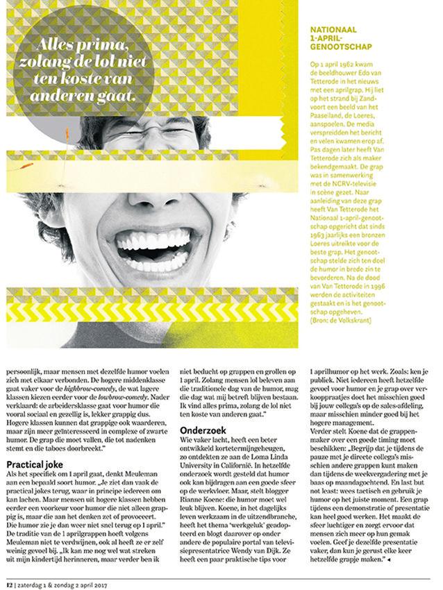 L-magazine van De Limburger, 01-05-2017, 'Trap jij erin vandaag?'