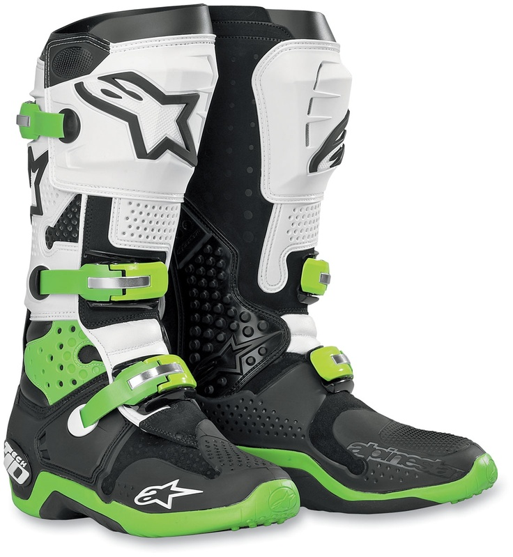 Alpine Stars Tech 10 boots, great boots but I prefer them in all black.