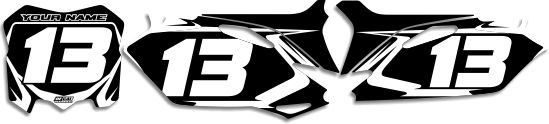 DeCal Works: Dirt Bike Number Plate Background Kits