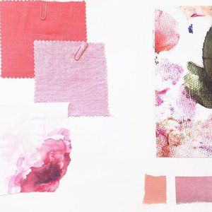 Creating mood boards with some bright colours...Can you tell that I love pink?…