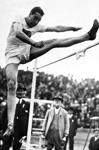 Men's High Jump, Team GB's B, Howard-Haker at the 1920 Olympic Games in Antwerp.