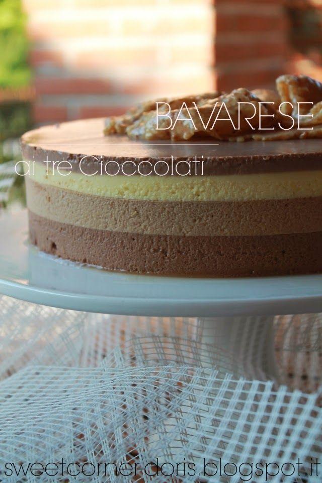 Bavarese ai tre Cioccolati di Luca Montersino - sweetcorner doris