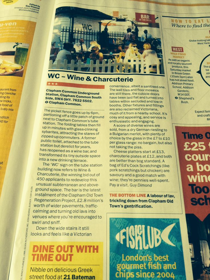 Feature in Time Out London for WC Clapham