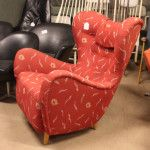 Very Large 1950s Swedish Contoured Lounge Chair, $1650 as is (#5435)