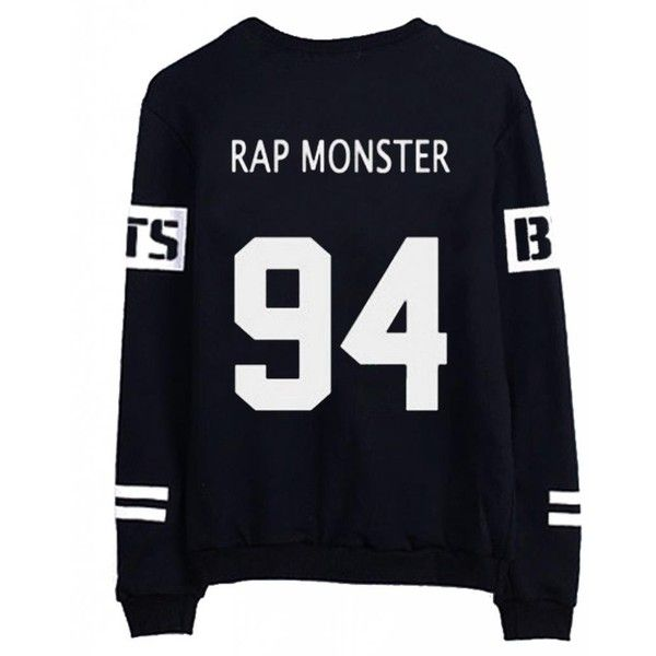 BTS Bangtan Boys V Sweater Shirt JIMIN JIN SUGA Shirt Jacket Pullover ($16) ❤ liked on Polyvore featuring tops, bts, kpop, shirts and sweaters