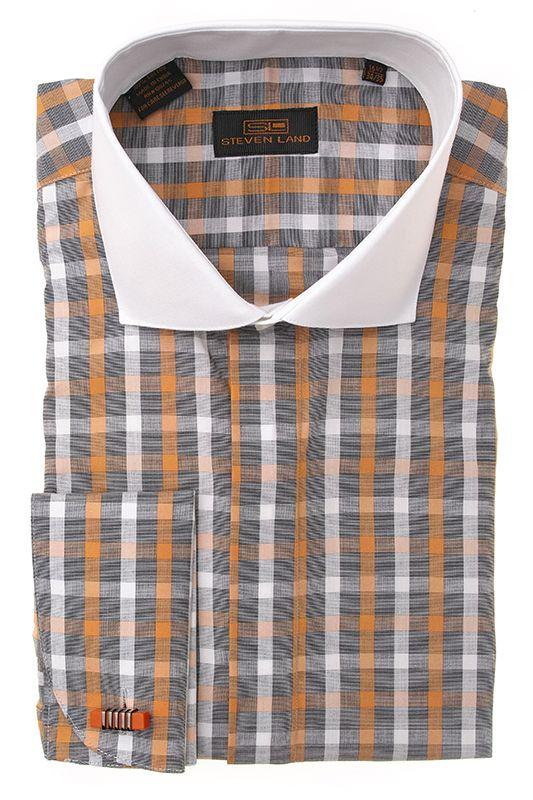 Steven Land Shirts  DS1240   Orange $69 #StevenLand #FallCollection2014 #Colors
