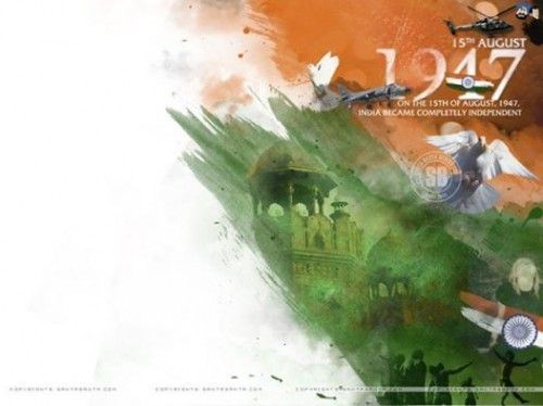 happy independence day 15 august 1947 india 500x374 independence day 15 august india Pictures Images Quotes