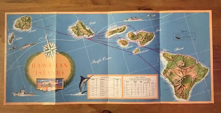 Maker: Hawaiian Airlines, Honolulu, Hawaii. Year: 1953.   eBay!