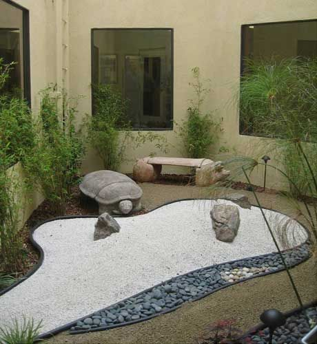 Turtle Temptation: Acacia Animal Health Center Offers A Zen Garden Of  Plants, Stone, And Sand For Team Members To Rest And Unwind On.