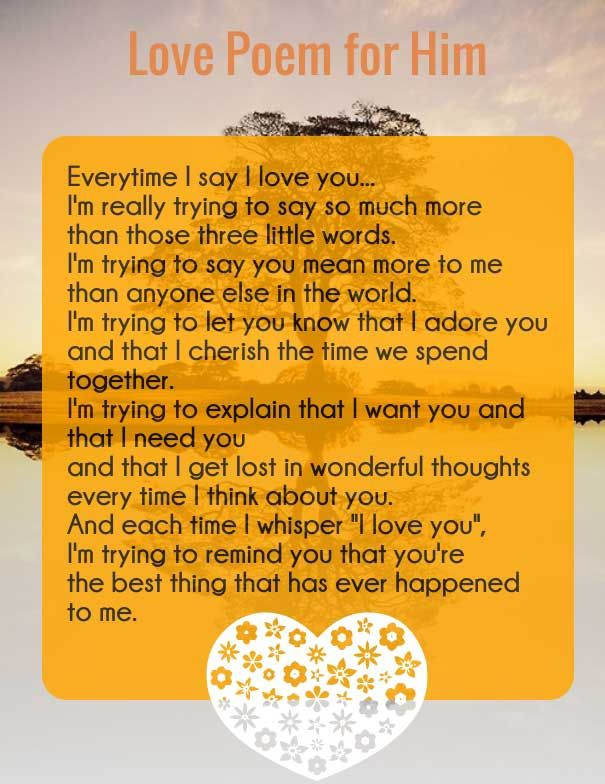 Heart Touching Love Poems for Him (4)