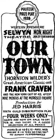 The 25 best thornton wilder ideas on pinterest passion planner promotional ad for the 1939 premiere chicago production of the thornton wilder play our town fandeluxe Gallery