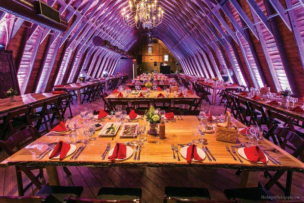 Perona Farms in Andover has completely renovated their dairy barn for rustic weddings, and we LOVE it!