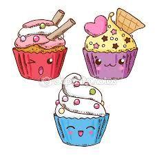 Resultado de imagen de dibujos kawaii comida